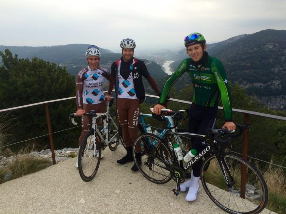 Sortie d'entrainement avec Antoine Duchesne et Michel Lacouline dans les Gorge de l'Ardèche !